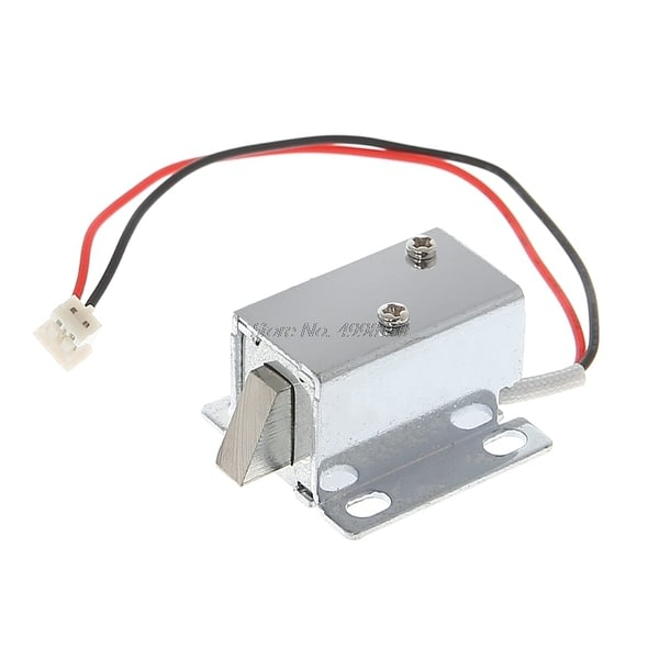 Electronic Lock Catch Door Gate 12V 0.4A Release Assembly Solenoid Access Control Dropship