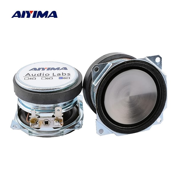 AIYIMA 2 Pcs 2 Inch Audio Full Range Waterproof Speakers Driver 8 Ohm 25 W Sound Music Mini Speaker PP Metal Basin Home Theater