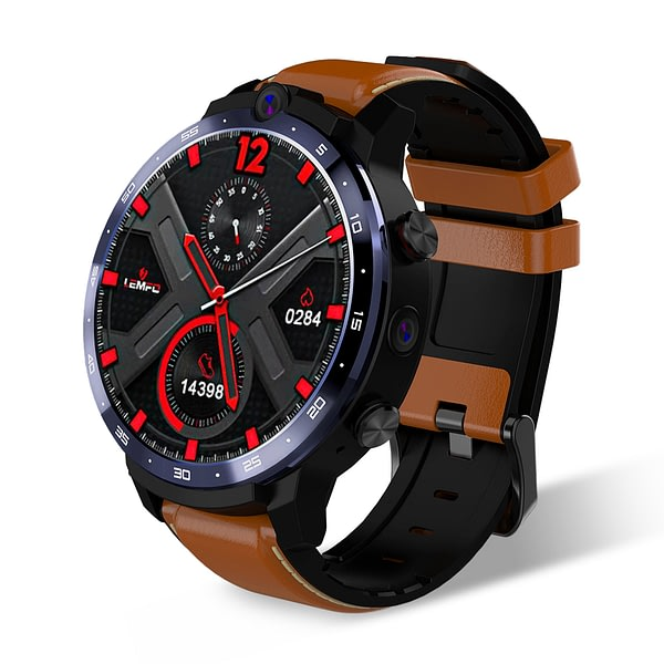 [4G+64G]LEMFO LEM12 Pro Android 10.0 Face Unlock 1.6 Inch HD Screen 4G Watch Phone Dual Camera Play Store Customized Watch Face Smart Watch