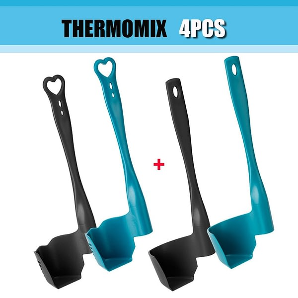 4Pcs Rotating Spatula for Kitchen Thermomix TM6/TM5/TM31 Multi-function Rotating Mixer Termomix Spatula Portioning Food Rotary