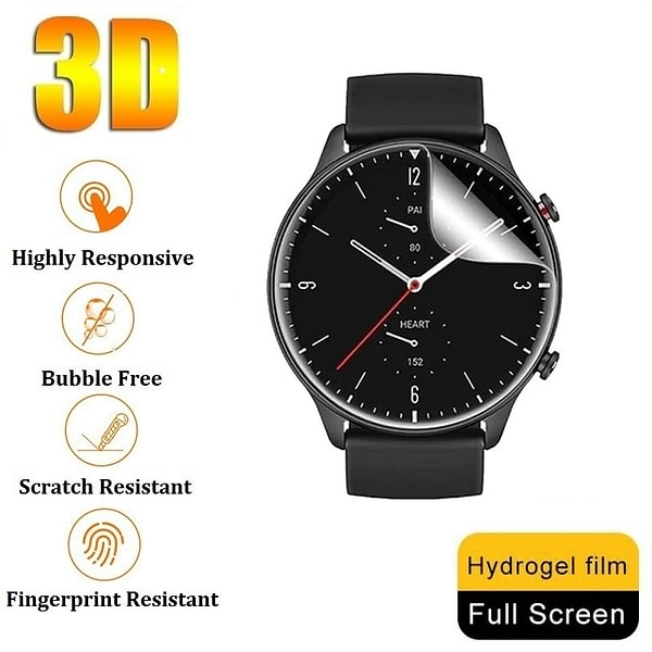 3D Hydrogel Protective Film for Amazfit GTR 2e 2 Screen Protector (No Glass) for Amazfit GTR 2e 2 47mm 42mm Film Foil Protection