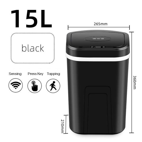 15L Automatic Touchless Intelligent induction Motion Sensor Kitchen Trash Can Wide Opening Sensor Eco-friendly Waste Garbag