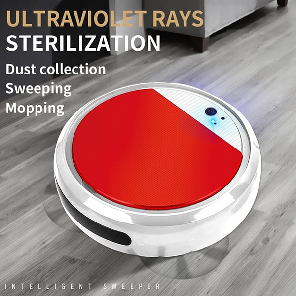 Robot Vacuum Cleaner Smart Disinfection Sweep&Wet Mopping Scrubber Vacuum Cleaner Robotic Run 60 Mins Vacuum Cleaners For Home