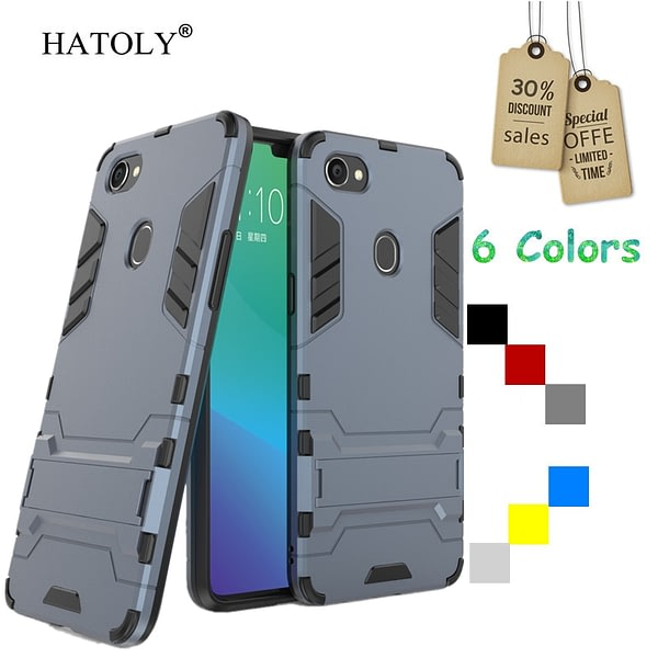 For Cover Oppo F7 Case Rubber Robot Armor Phone Shell Funda Hard PC Back Phone Cover for Oppo F7 Protective Case for Oppo F7