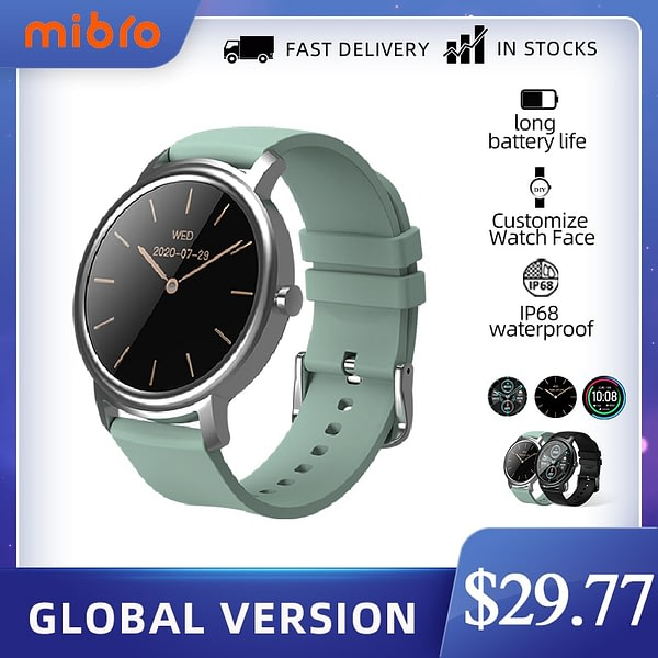Mibro Air Smart Watch Android IOS Fitness Watch IP68 Waterproof Bluetooth 5.0 Sleep Monitor Heart Rate Tracker SmartWatch