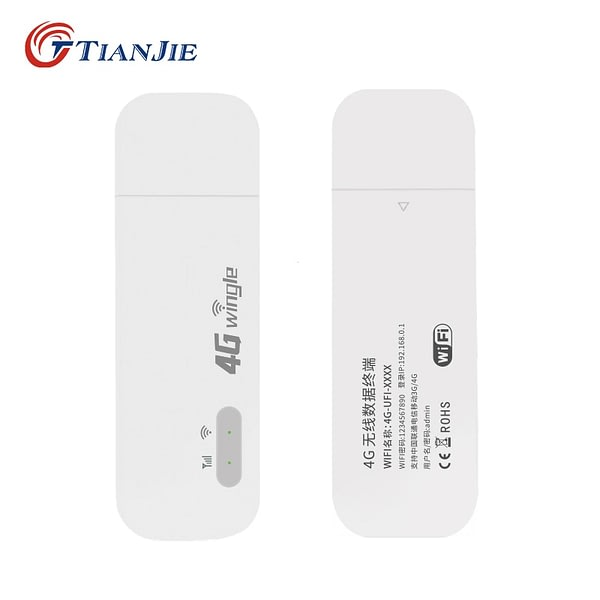 TIANJIE Modified Unlocked 3G 4G LTE WiFi Modem USB Dongle Router Car Home Hotspot for Malaysia Unlimited With Sim Card Slot