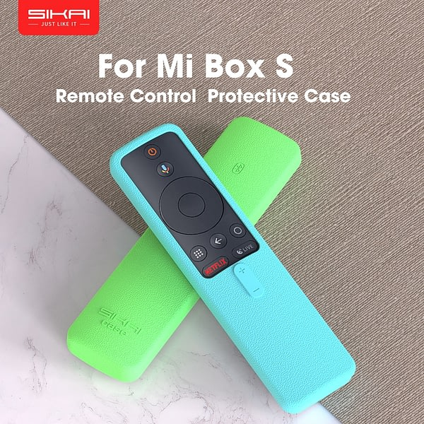 SIKAI Remote Case for Xiaomi Mi Box S 4X TV Stick Control Cover Silicone Shockproof Skin-Friendly Protector