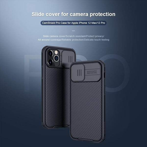 Nillkin for iPhone 12 11 Pro Max Camshield Armor Cover Slide Camera Protection Case for iPhone 11 Pro Max 12 Mini 8 SE 2020 Case