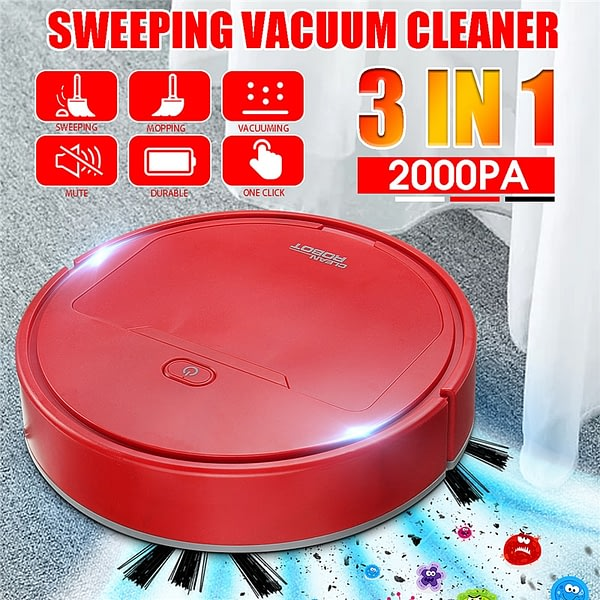 3 in 1 USB Charging Intelligent Robot Vacuum Cleaner Sweeping/moping/dusting Vaccum Cleaner Robots Household Cleaning Machine