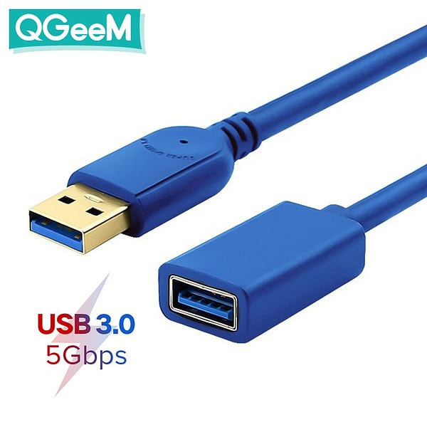 USB Extension Cable Cord Super Speed USB 3.0 Cable Male to Female Data Sync USB Extender Extension Cable 1m 2m 3m computer cable