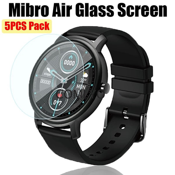 5PCS Pack 2.5D Tempered Glass Screen Protector For Xiaomi Mibro Air Smartwatch Screen Protective Film Anti-Scratch