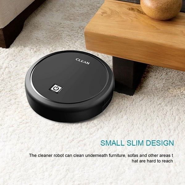 Automatic USB Charging Wireless ing Robot Vacuum Cleaner Cordless Vaccum Robot Carpet Robots Mop Robot Black