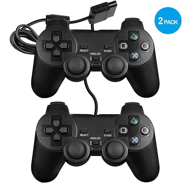 Dualshock 2 controller for PS2 Built-in-Double Vibration Motors video game consoles with Sensitive Control for All PS2 Models