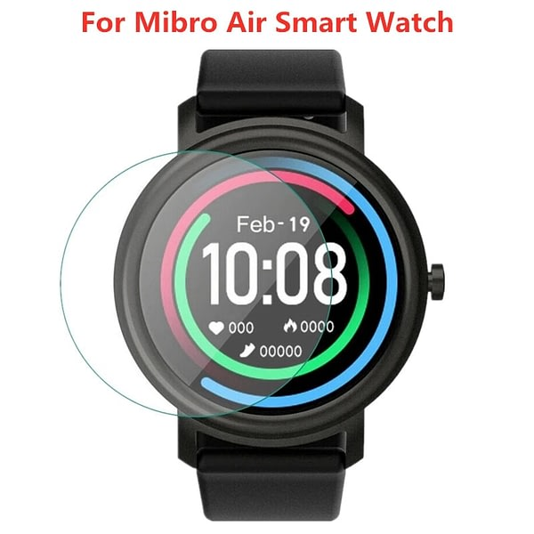 1-2Pcs Tempered Glass Film For Mibro Air Smart Watch Full Screen Protector Protective Film For Xiaomi Mi bro Air Accessories