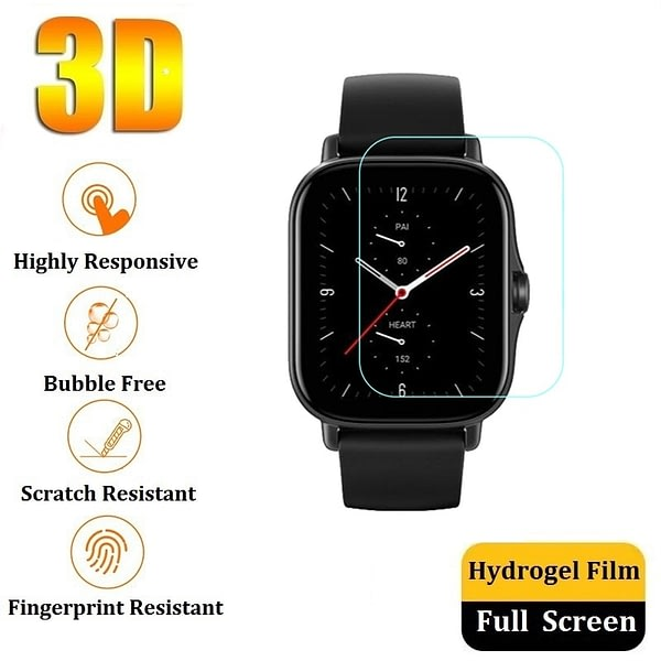 3D Hydrogel Protective Film for Amazfit GTS 2e 2 Mini Screen Protector (No Glass) for Amazfit GTR 2e 2 Mini Film Foil Protection