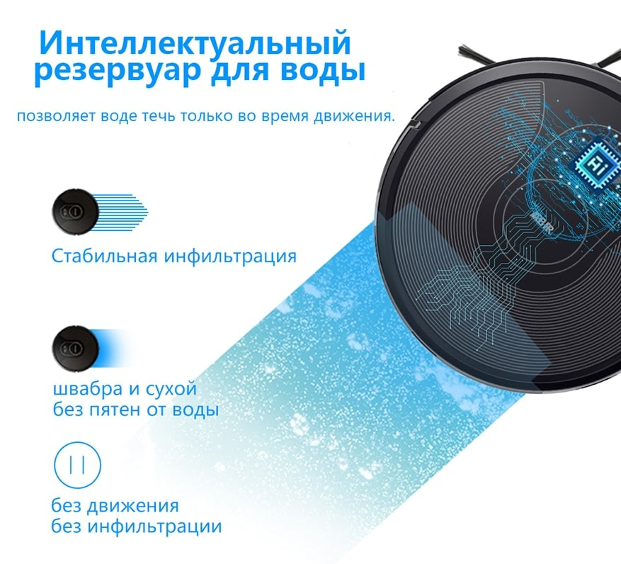 ABIR X6 Robot Vacuum Cleaner, Visual Navigation,Smart Mopping,4000pa Suction,Selective Zone Cleaning, Ideal for Pet Hair Carpet