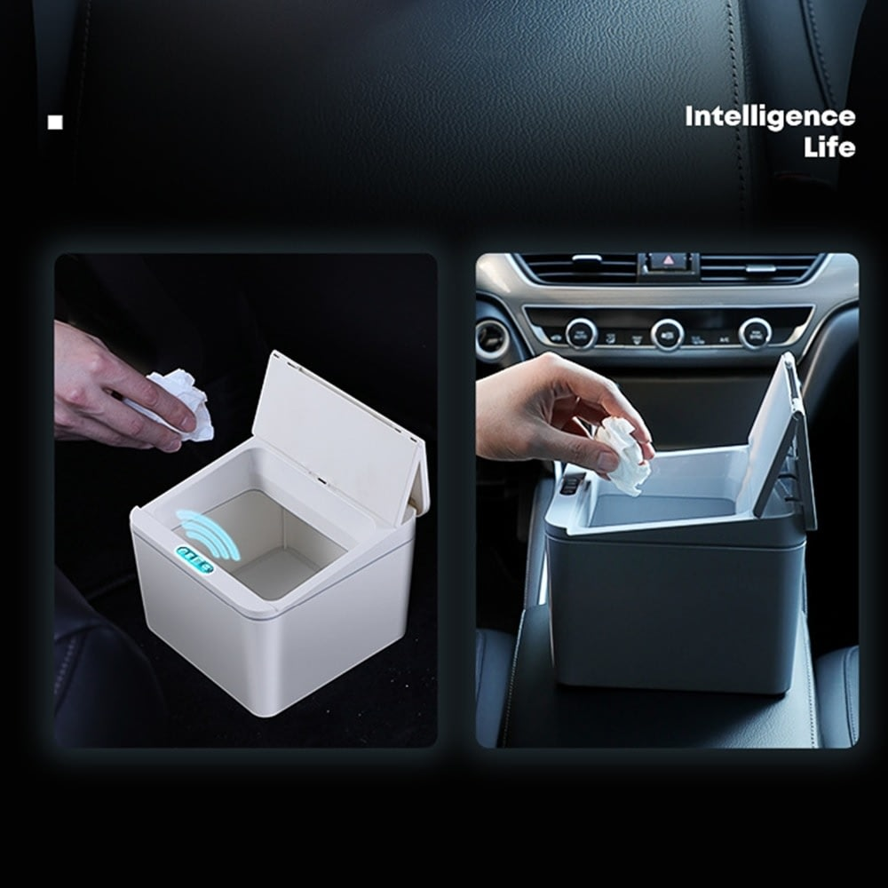 Automatic Touchless Intelligent induction Motion Sensor Kitchen Trash Can Wide Opening Sensor Eco-friendly Car Waste Garbage Bin