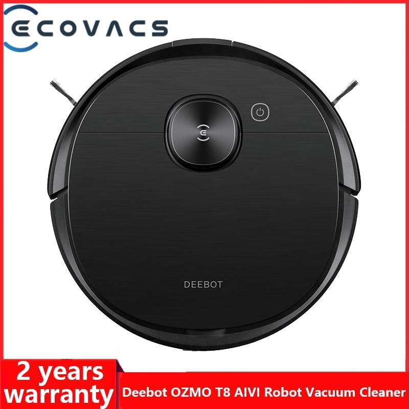 ECOVACS DEEBOT OZMO T8 AIVI Vacuum Cleaner Robot Sweeping APP Function English Speaking China Version 120 Min Long Battery Life